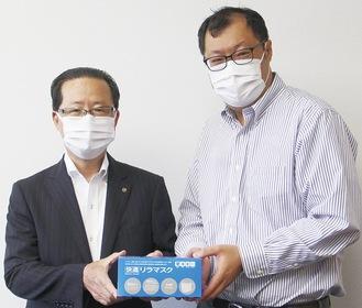 徐代表取締役(右)と小澤会長