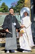 荻野神社で結婚式