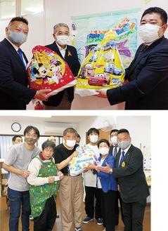 児童相談所(上)、三田つばさ作業所に寄付した