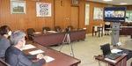 県庁とリモートで締結式
