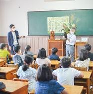 懐かしの学び舎再現
