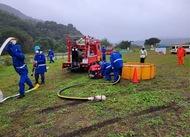 消防団が実践訓練