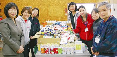 福祉施設に食料品を寄贈
