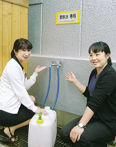 宮ヶ瀬に給水スポット