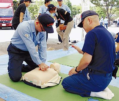 市内各所で防災訓練