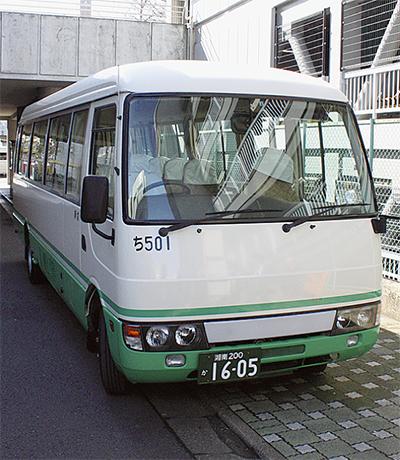 駐車場の代わりにシャトルバス