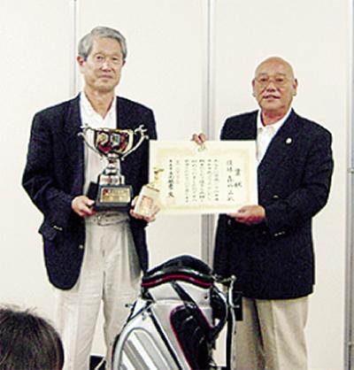台風に負けずゴルフ大会
