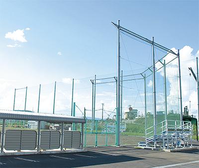 猿ケ島に野球場が新設