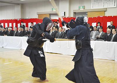 勇ましく武道始式
