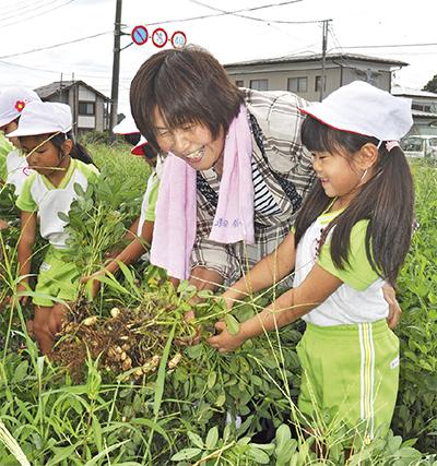 園児が農業体験