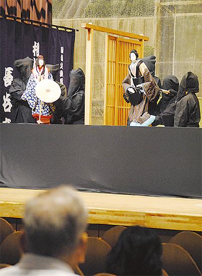 学祭で人形芝居