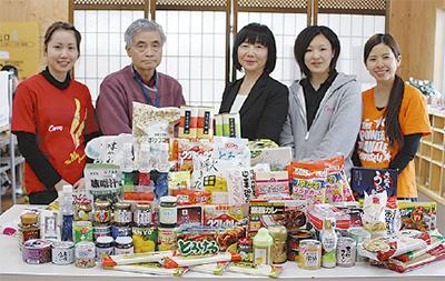 福祉施設に食料品寄贈