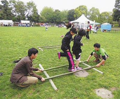 竹で遊ぶ工作体験会