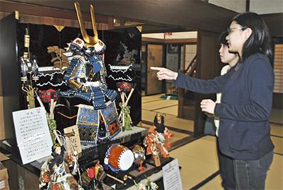 真田モデル鎧兜も展示