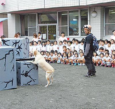 保育園で防災教室