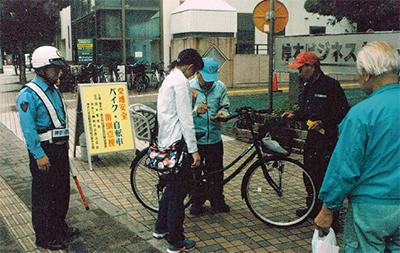 二輪車点検で事故防止