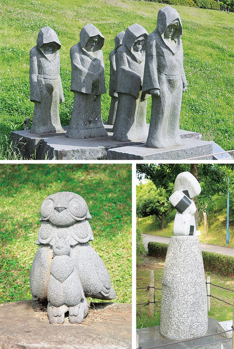 梅雨の晴れ間に彫刻鑑賞
