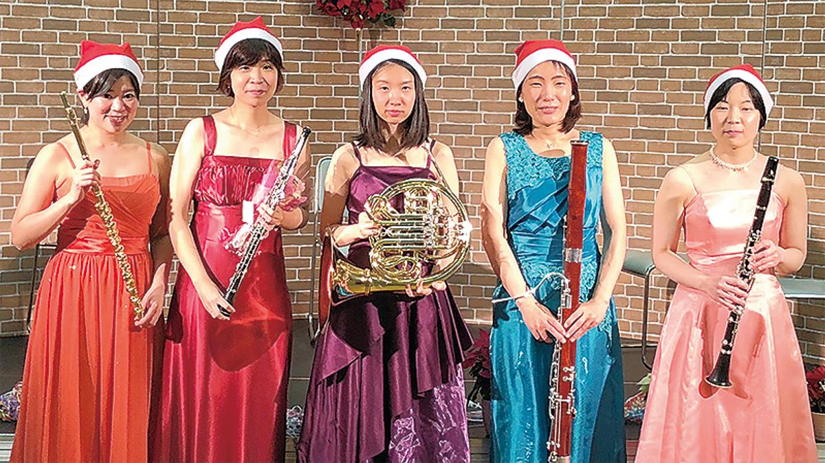 木管五重奏でクリスマス
