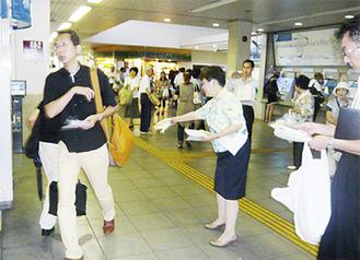 愛甲石田駅での様子