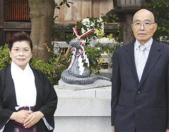 永井治子宮司と杉山茂さん