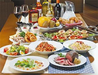 ▲コース料理は2625円と3675円の2コースから選べる