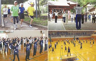 市内各地でスポーツが行われた
