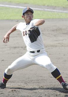 一志健太投手(9月13日撮影)