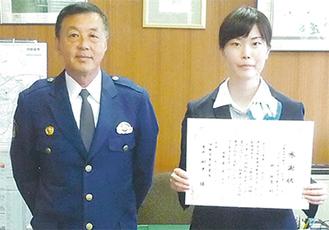 右から林さん、田中署長