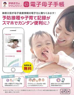 アプリストアから「電子母子手帳」と検索