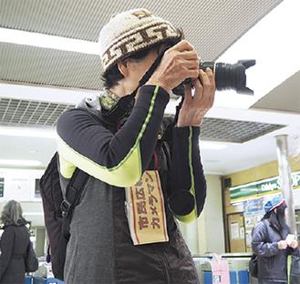 胸の腕章が市民広報カメラマンの証