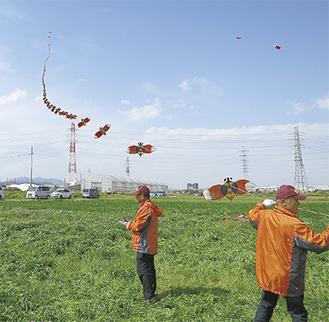 昨年の上谷での連凧