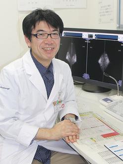 乳腺外来を担当する柏木医師。「早期発見が大切です」と話す。