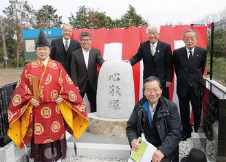 心敬塚顕彰碑の建立に携わった関係者たち