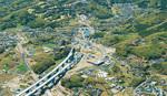 工事が進む伊勢原大山インターチェンジ周辺(写真提供:NEXCO中日本)