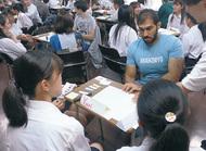 東海大留学生と交流