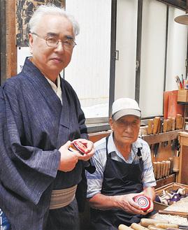 相原さん(左)と播磨さん(はりまやの工房で)