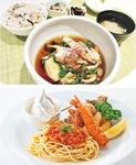 揚げ出し豆腐サワラと冬野菜のあんかけ御膳(上)、お子様プレート