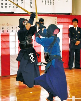 白熱した剣道高点試合