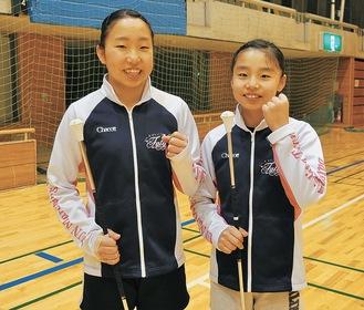 それぞれの部門で準優勝した結和さん(左)と心和さん