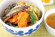 秋鮭のフライ御膳が絶品