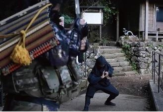 忍者が登場する動画の一場面
