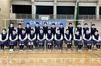 女子バレーボール部のメンバー