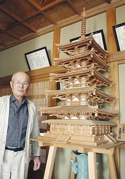 法隆寺の五重塔を「建立」