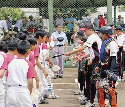 少年野球で国際親善