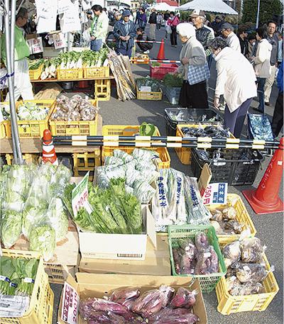 地場産野菜が集合