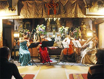 能満寺で弦楽の夜