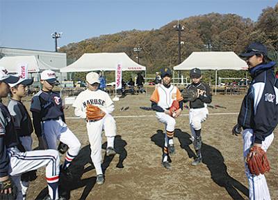 野球部OBが指導