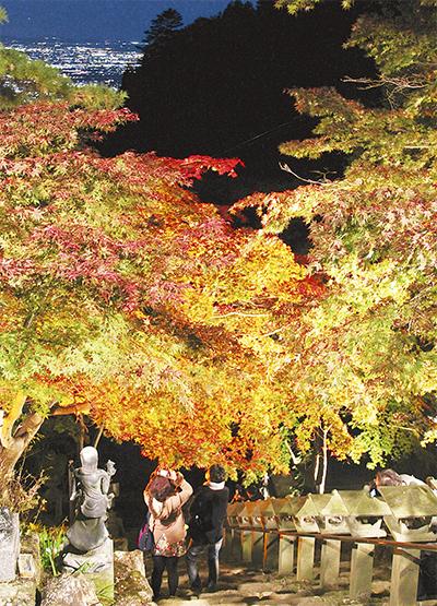 大山の紅葉狩りピーク