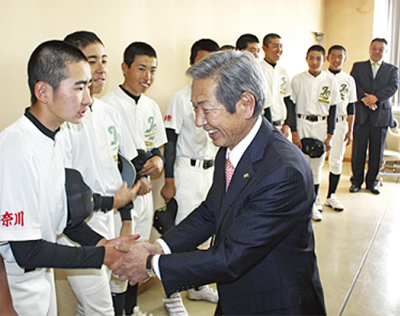 関東大会の健闘誓う