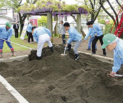 「砂場」と「ベンチ」で子どもの環境整備